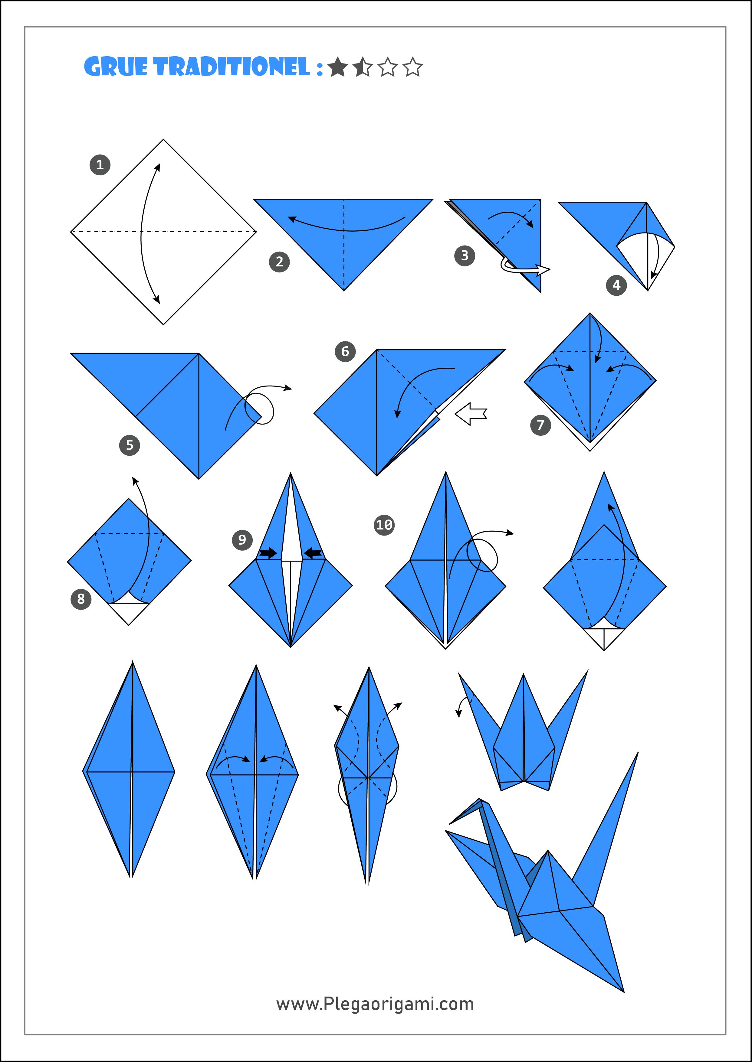 Schemas Modeles Origami Facile Et Rapide Pour Debutant
