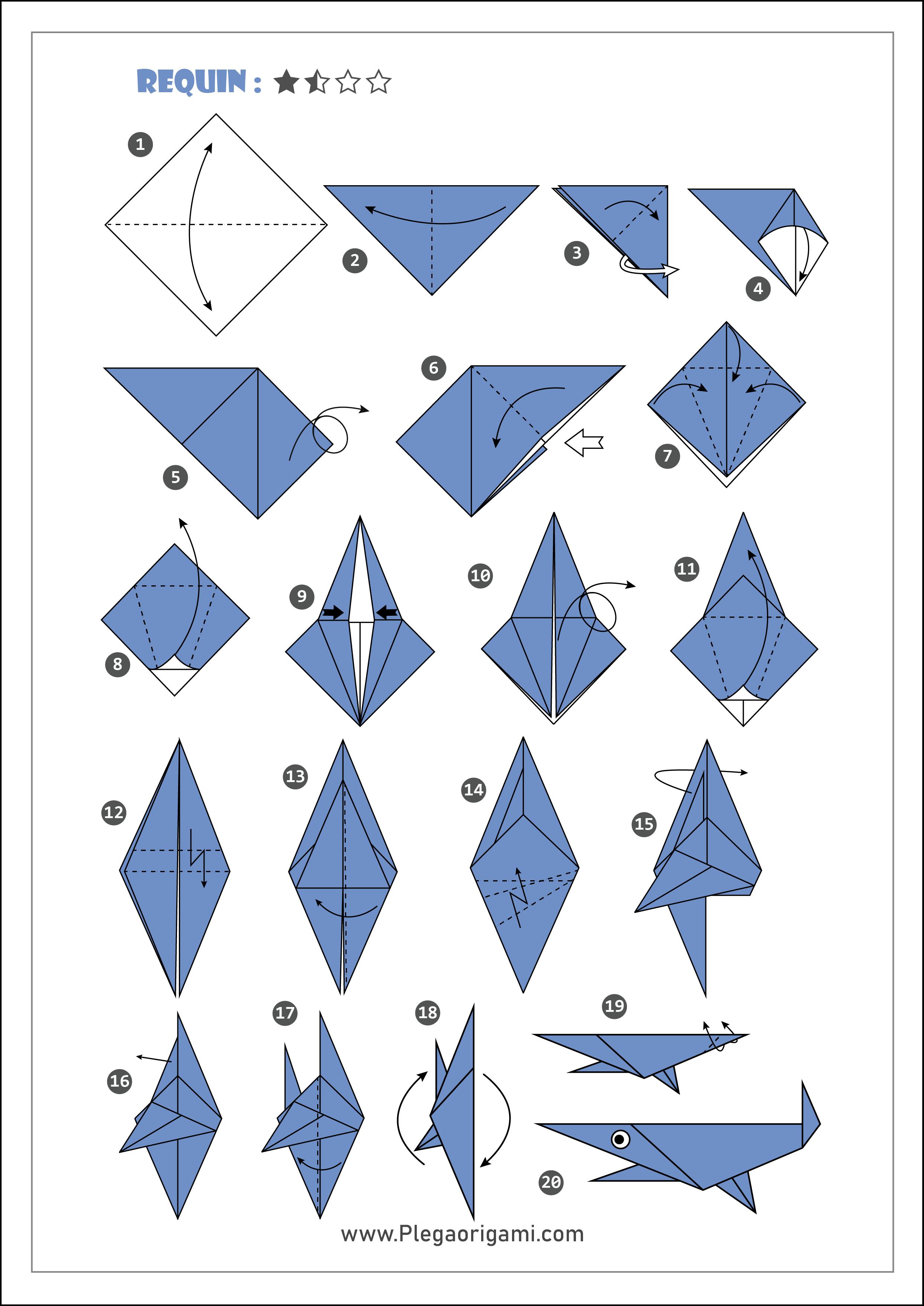 Schémas Modèles Origami facile et rapide pour débutant